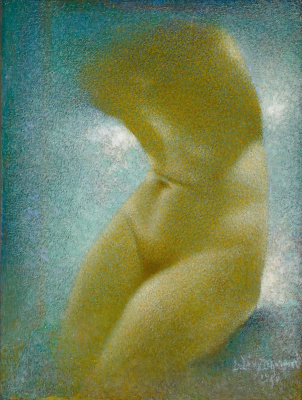 Lucien Lévy-Dhurmer. Female torso.