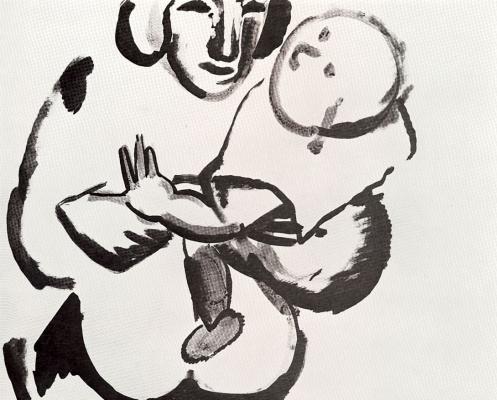 Лев Александрович Бруни. Женщина с ребенком
