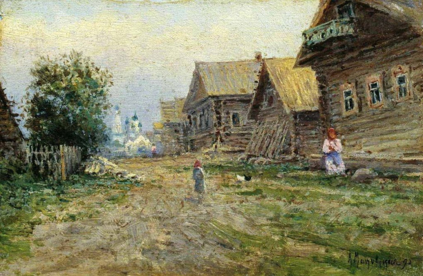 Alexandra Egorovna Makovsky. Village