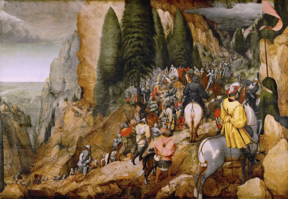 Pieter Bruegel The Elder. The conversion of Saul (Conversion of St. Paul)