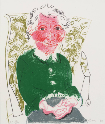 David Hockney. Portrait of a mother I