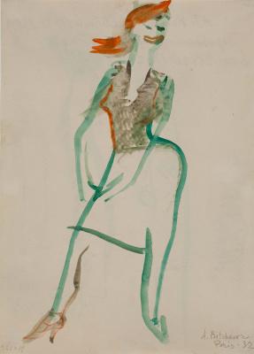 Александра Григорьевна Кольцова (Бычкова). Парижанка в красной косынке