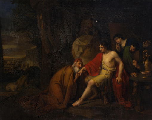 Alexey Tarasovich Markov. Priam asking Achilles for the body of Hector.