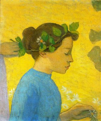 Aristide Mayol. A wreath on the head