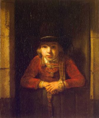 Самюэл Диркс ван Хогстратен. Мальчик в окне