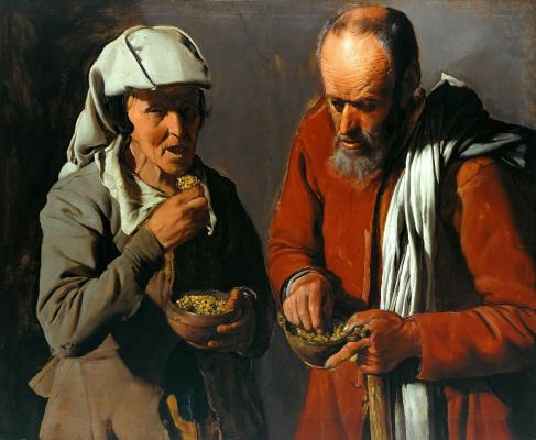 Georges de La Tour. Eaters of the peas