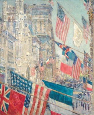 "Childe Hassam. Allies day, may 1917 (from the series ""Flags"")"