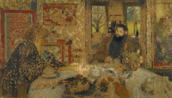 Jean Edouard Vuillard. Misia Nathanson and Tsipa Godebski at breakfast