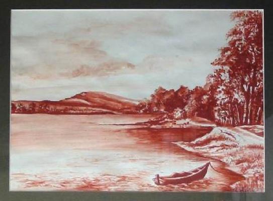 Vladimir Vasilyevich Abaimov. The Landscape with the Boat