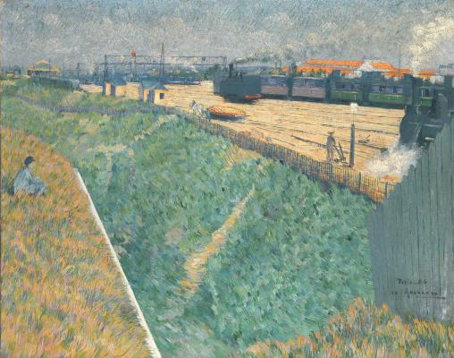 Шарль Ангран. Западная железная дорога при выходе из Парижа