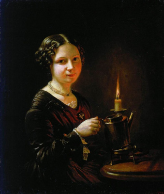 Vasily Andreevich Tropinin. A girl with a candle
