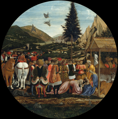 Domenico Veneziano. The adoration of the Magi
