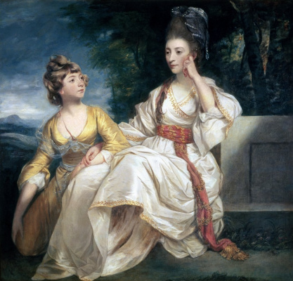 Joshua Reynolds. Portrait of Mrs. Trail and her daughter Esther