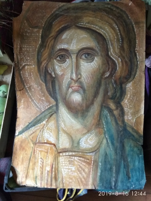 Igor Lvovich Zelenetsky. Sketch of the face of Christ for mosaic
