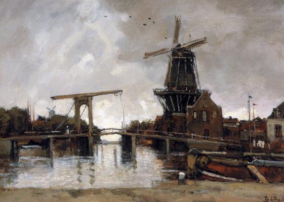 Теофиль Де Бок. Вид на город с моста