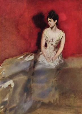 Альберт фон Келлер. Портрет жены художника