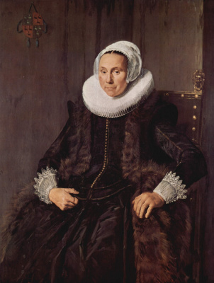 France Hals. Portrait of Cornelia Voogt, wife of Nicolas van der Meer