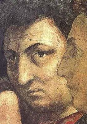 Tommaso Masaccio. Saint Peter in the pulpit. Fragment. Self Portrait Masaccio