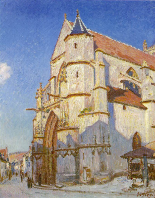 Alfred Sisley. The Church at Moret