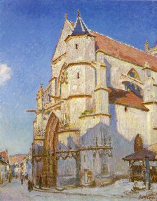 Alfred Sisley. The Church at Moret