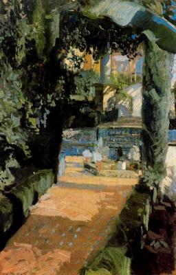 Хоакин Соролья (Соройя). Внутренний двор