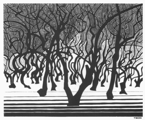 Maurits Cornelis Escher. Forests near Menton