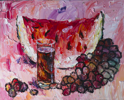Yuri Leonardovich Uzhdavini. Watermelon-grape wine pink.