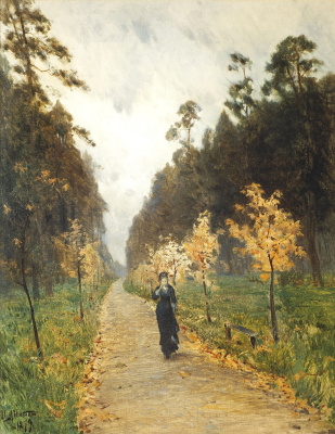 Isaac Levitan. Autumn day. Sokolniki