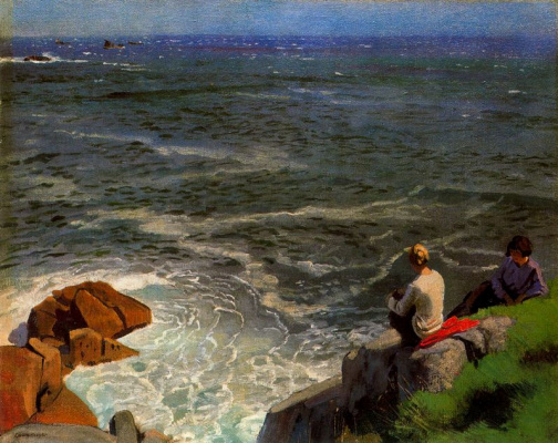 Laura Knight. Looking at the sea