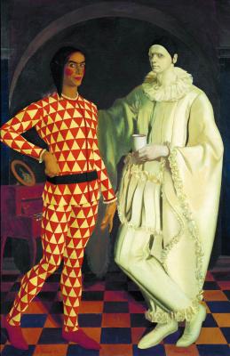 Василий Иванович Шухаев. Автопортреты (Арлекин и Пьеро). 1914 В соавторстве А.Яковлевым