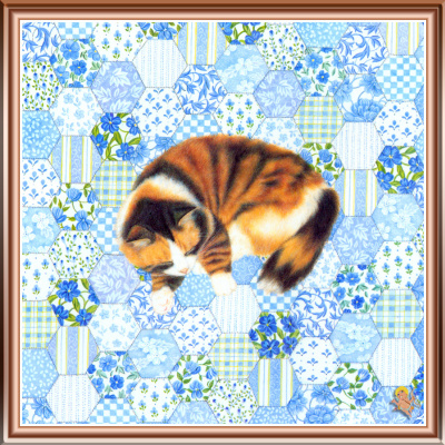 Джон Мартинес. Кот на синем ковре