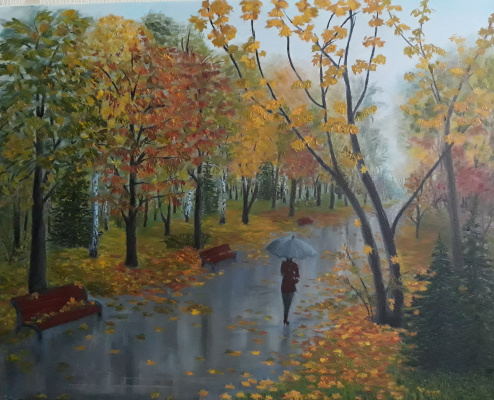 Nadezhda Nikolaevna Kravtsova. Autumn in the park
