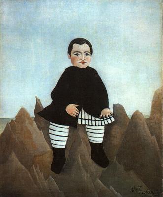 Анри Руссо. Мальчик на скалах