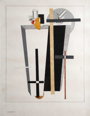 "El Lissitzky. Undertakers. Figurine of the project for the Opera ""victory over the sun"""