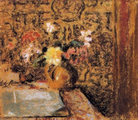 Jean Edouard Vuillard. Still life with flowers