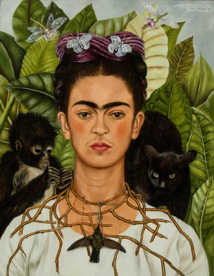 Frida Kahlo. Self-portrait with thorn necklace
