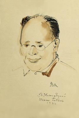 Владимир Алексеевич Милашевский. Портрет Исаака Бабеля