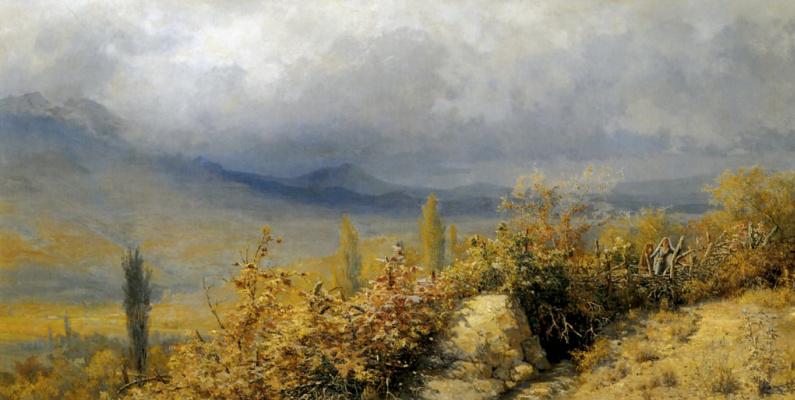 Grigory Grigorievich Myasoedov. Autumn view in the Crimea