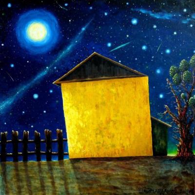 """Alfrid Mullahmetovich Shaimardanov. """"Full moon night"""""""