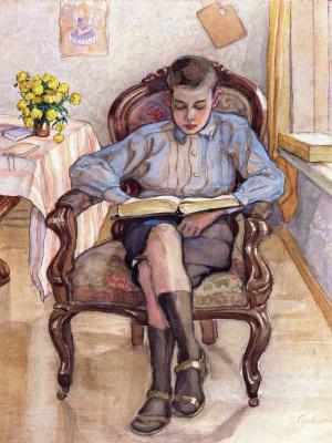 Зинаида Евгеньевна Серебрякова. Мальчик в кресле