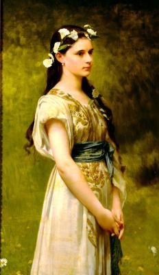 Jules Joseph Lefebvre. Portrait Of Julia Foster Ward