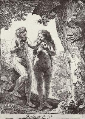 Рембрандт Ван Рейн. Адам и Ева