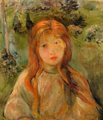 Berthe Morisot. Little girl at Mesnil