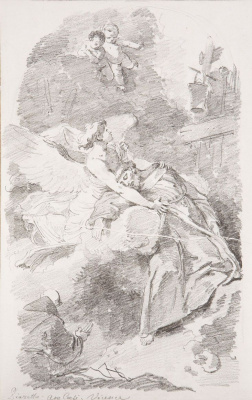 Jean-Honore Fragonard. The ecstasy of St. Francis (by Giovanni Battista Piazzetta)