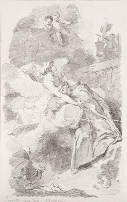 Жан Оноре Фрагонар. Экстаз Святого Франциска (по Джованни Баттиста Пьяцетта)