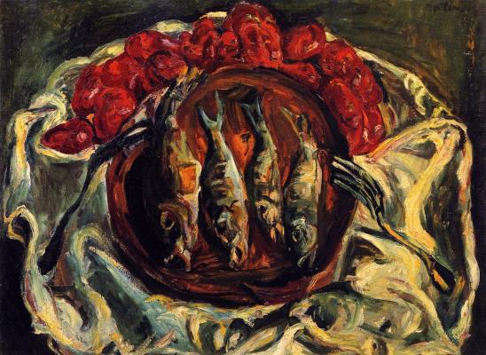 Haim Solomonovich Soutine. Fish and tomatoes