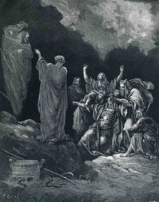 Paul Gustave Dore. Saul and the Witch of Endor