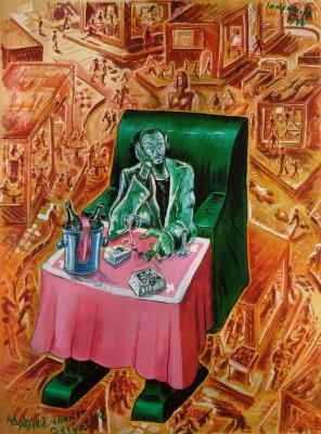 Йорг Йммендорф. Зеленое кресло