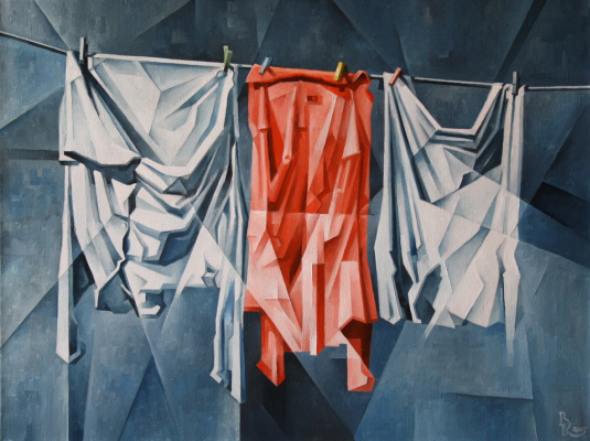 Vasily Krotkov. Drying. Kubofuturizm
