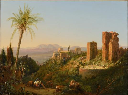 Joseph-Philibert Giraud de Prandje. Towers surrounding the Alhambra Palace, Granada